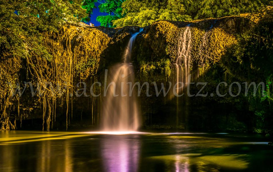 Waterfall at Night  4187