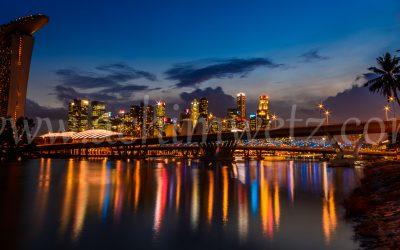 Singapore Skyline Sunset 0346
