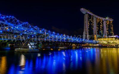 Singapore Skyline at night 0350
