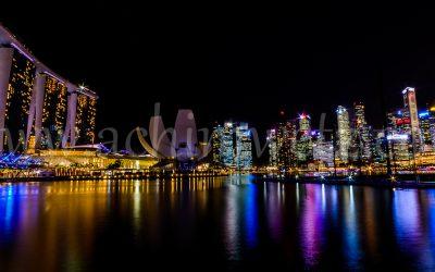 Singapore Skyline at night 0352